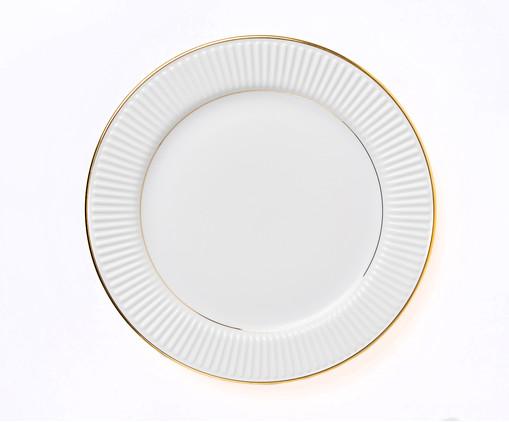 Prato Raso em Porcelana Plie - Branco, Branco | WestwingNow