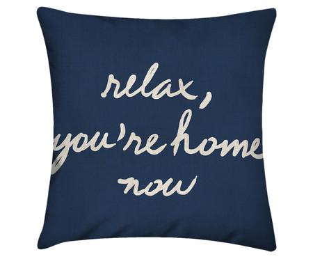 Capa de Almofada Relax, You're Home Now - Azul Marinho | WestwingNow