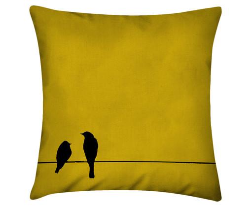 Capa de Almofada em Linho Misto Janssen, Amarelo | WestwingNow