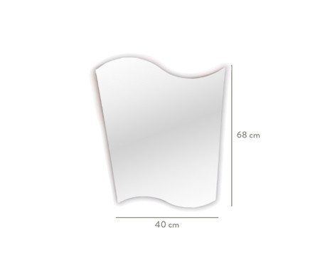Espelho de Parede Lapidado Bismark  - 68x40cm   WestwingNow
