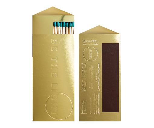 Caixa de Fósforos Longos Enno - 100 Unidades, Dourado   WestwingNow