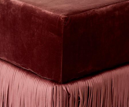 Pufe em Veludo Saloon Double - Rosa Antique | WestwingNow