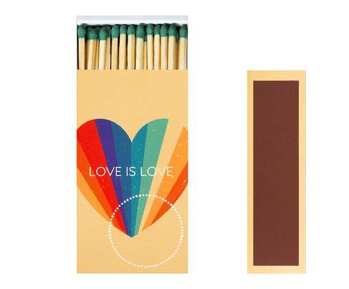 Caixa de Fósforos Longos Love is Love - 100 Unidades, MULTICOLOR | WestwingNow
