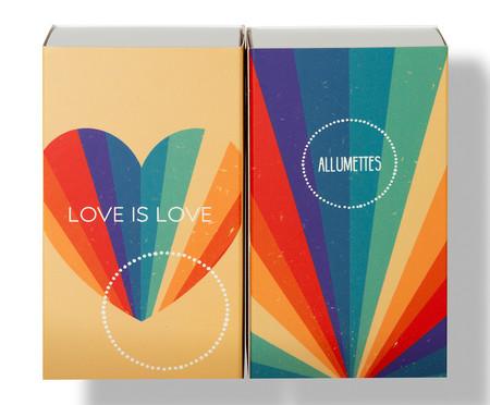 Caixa de Fósforos Longos Love is Love - 100 Unidades | WestwingNow