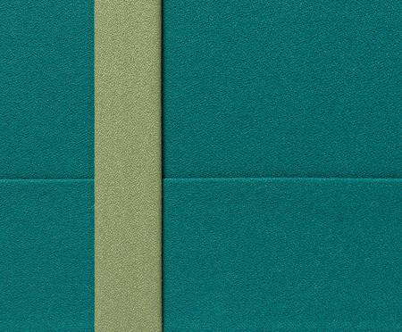 Escrivaninha Eva com Bandeja e Porta Papel - Turquesa e Freijó | WestwingNow