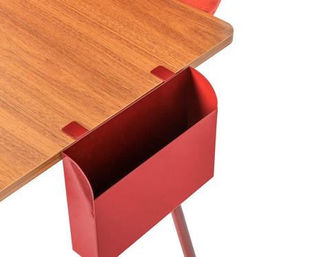 Escrivaninha Eva com Bandeja e Porta Papel - Terracota e Freijó | WestwingNow