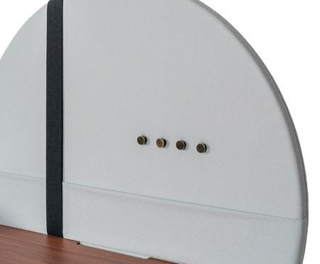 Escrivaninha Eva com Bandeja e Porta Papel - Cinza e Nogueira | WestwingNow