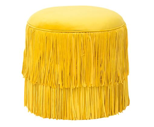 Pufe em Veludo Cabaret - Girassol, Amarelo | WestwingNow