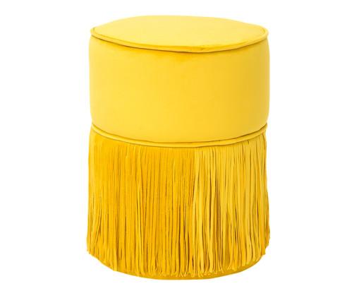 Pufe em Veludo Comtois - Girassol, Amarelo | WestwingNow
