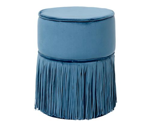 Pufe em Veludo Comtois - Celeste, Azul | WestwingNow