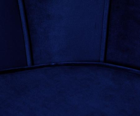 Poltrona em Veludo Pétala - Azul Índigo | WestwingNow