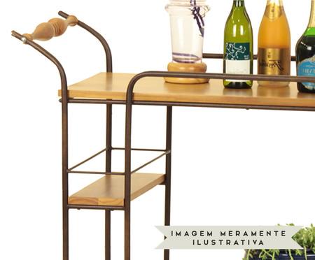 Carrinho de Bar em Madeira Engenho - Mel | WestwingNow
