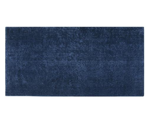Passadeira Shaggy Smooth - Jeans, Azul | WestwingNow