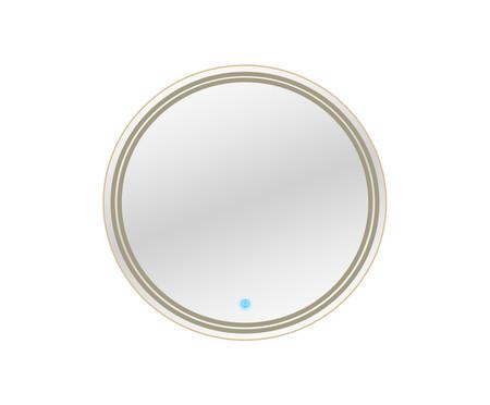 Espelho de Parede Redondo com Led Laura ll - Bivolt - 58cm - Moldura Dourada   WestwingNow