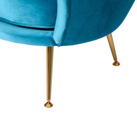 Poltrona em Veludo Pétala  Azul Pavão | WestwingNow