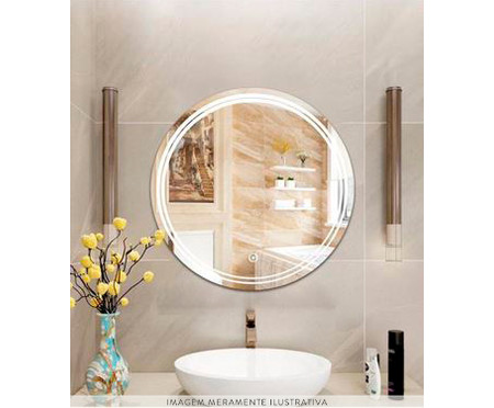 Espelho de Parede Redondo com Led 24W Laura l - Bivolt - 58cm | WestwingNow