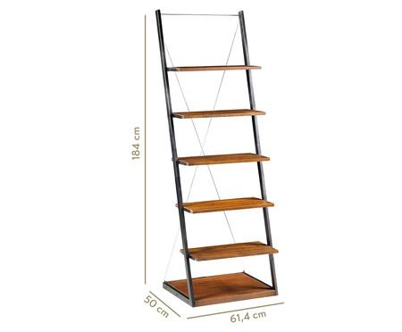 Estante Escada em Metal e Madeira Duke - Marrom e Preta | WestwingNow