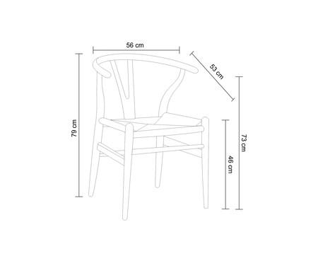 Cadeira Valentina - Madeira Escura | WestwingNow
