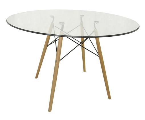Mesa de Jantar Redonda Eames - Vidro, Transparente | WestwingNow
