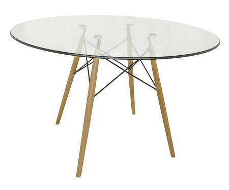 Mesa de Jantar Redonda Eames - Vidro | WestwingNow
