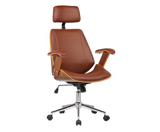 Cadeira de Escritório com Rodízio Orletti - Marrom, Marrom | WestwingNow