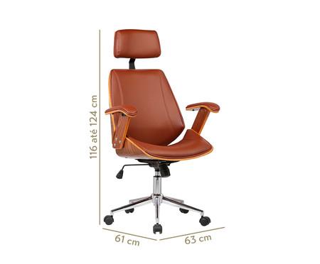 Cadeira de Escritório com Rodízio Orletti - Marrom | WestwingNow