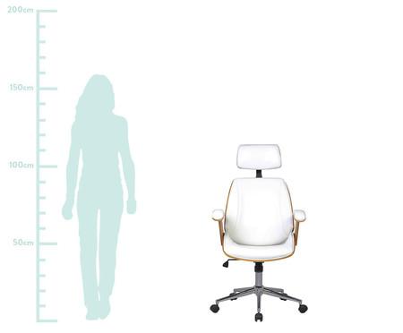 Cadeira de Escritório com Rodízio Orletti - Branco | WestwingNow