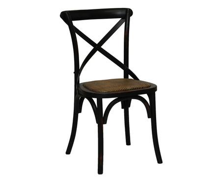 Cadeira de Madeira Cross - Preta | WestwingNow