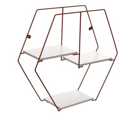 Prateleira Geométrica Jess - Acobreada | WestwingNow