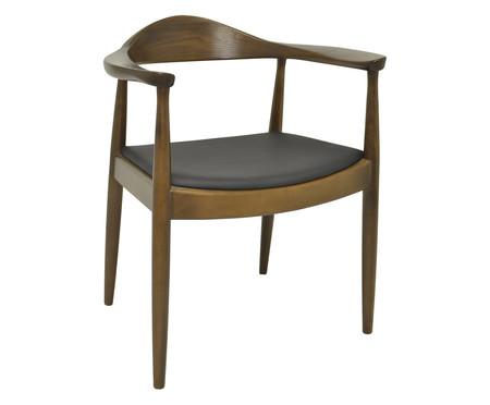 Cadeira Carina com Braços - Madeira Escura | WestwingNow
