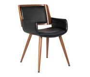 Cadeira em Couro Ecológico Aloa - Preta | WestwingNow