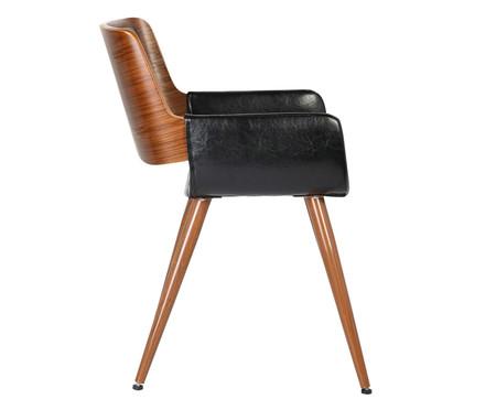 Cadeira em Couro Ecológico Land - Preta | WestwingNow