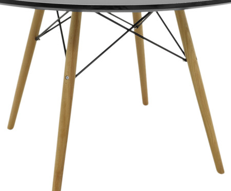 Mesa de Jantar Redonda Eames - Preta | WestwingNow
