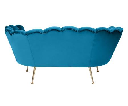 Sofá em Veludo Pétala - Azul Pavão   WestwingNow