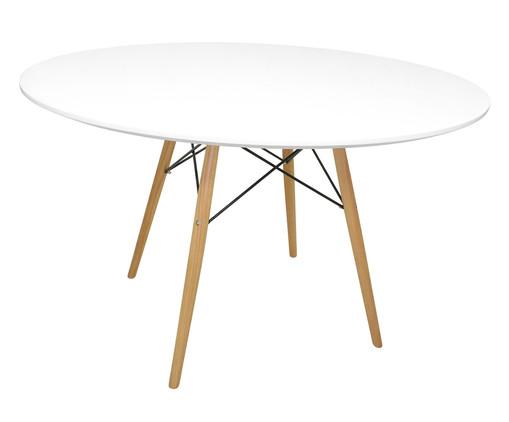 Mesa de Jantar Eames Redonda - Branca, Branco, Colorido | WestwingNow