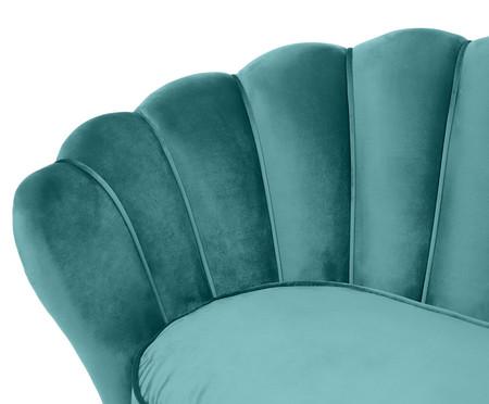 Sofá em Veludo Pétala - Azul Índigo   WestwingNow