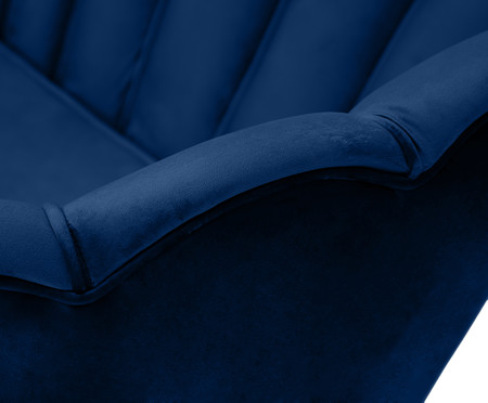 Sofá em Veludo Pétala - Azul Índigo | WestwingNow