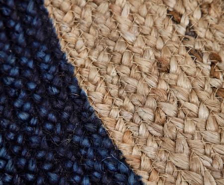 Tapete Redondo em Juta Coari - Azul e Natural | WestwingNow