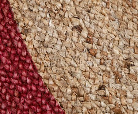 Tapete Redondo em Juta Coari - Rosa e Natural | WestwingNow