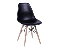 Cadeira Infantil Eames Wood - Preta | WestwingNow