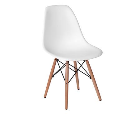 Cadeira Infantil Eames Wood - Branca | WestwingNow