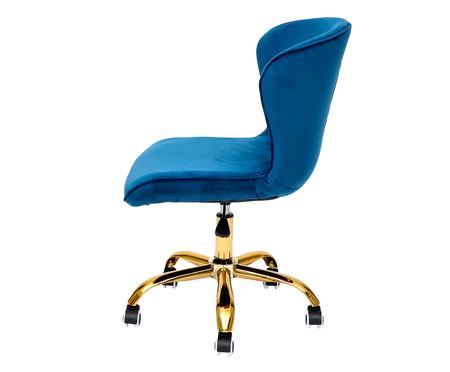 Cadeira de Escritório em Veludo Danish - Azul | WestwingNow