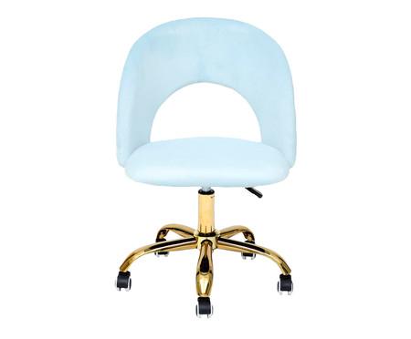 Cadeira de Escritório em Veludo Barbarella - Azul Claro | WestwingNow