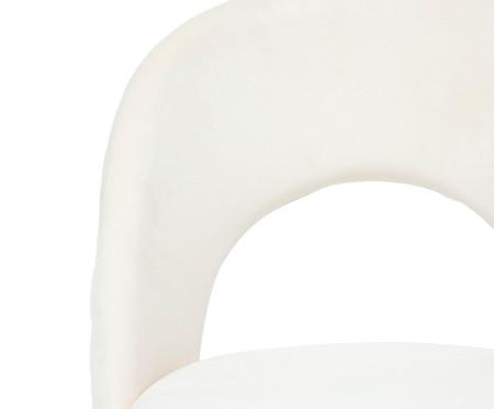 Cadeira de Escritório em Veludo Barbarella - Branco | WestwingNow