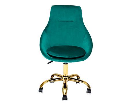 Cadeira de Escritório em Veludo Neo - Verde Esmeralda | WestwingNow