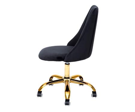 Cadeira de Escritório em Veludo Fiona - Preta | WestwingNow