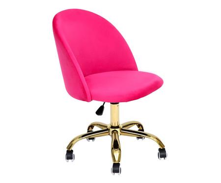 Cadeira de Escritório em Veludo Beetle - Pink | WestwingNow