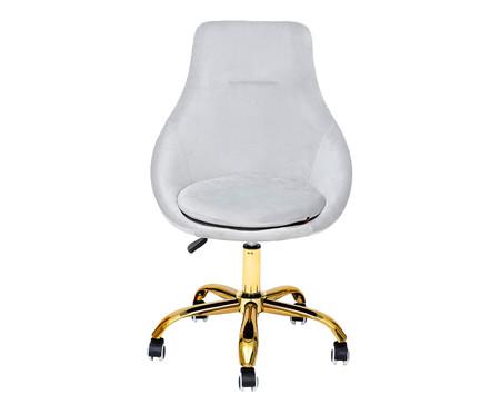 Cadeira de Escritório em Veludo Neo - Cinza Gelo | WestwingNow