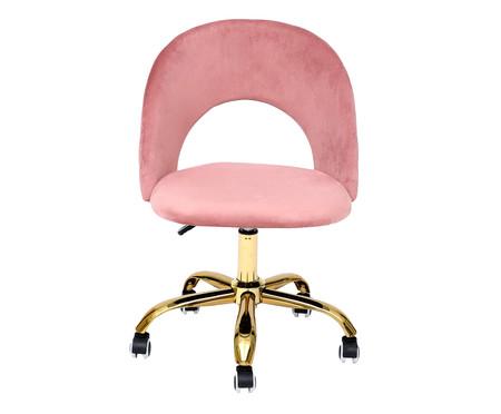 Cadeira de Escritório em Veludo Barbarella - Rosa Vintage | WestwingNow