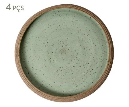 Jogo de Pratos Rasos em Cerâmica James - Verde | WestwingNow